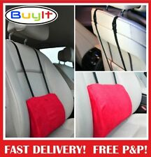 Support Pillow Cushion  Lower Back Lumbar For Car Seat & Office Chair Red