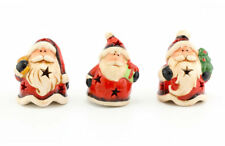 Traditional Father Christmas Ornaments LED Flashing Ornament - Set of 3    40221