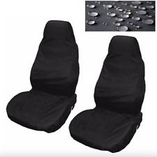 Housses de siège auto imperméable nylon AVANT Protection Noir pour Peugeot 406