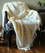 Handmade Cotton Woven Soft And Warm Throw Blanket For Sofa and Couch