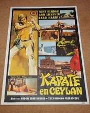 KOMMISSAR X DEATH IS SIMPLE Vintage KARATE Movie Poster TONY KENDALL BRAD HARRIS