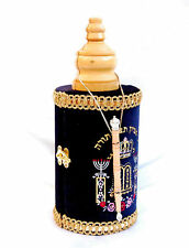 "Big Judaica Sefer Torah & case shield yad pointer  israel 18"" Scroll Book Bible"
