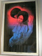 Alte Psychedelic Plakate Poster BLACK LOVERS VELVA PRINT USA 1972 ca 90cmx60cm