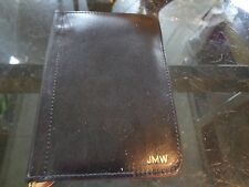"Mark and Graham  Wallet money clip inside black monogrammed  ""JMW""  New"