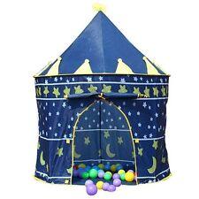 Tenda portatile per bambini gioco bimbi casetta palazzo principesco - col. blu