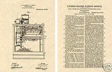 First Popcorn Machine Us Patent Art Print Ready To Frame Vintage 1916 1st Movie
