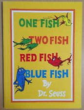 Dr Seuss One Fish Two Fish Red Fish Blue Fish Paperback Book 2011 Childrens
