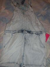 nwt Xhilaration chambray embroidered short overall romper girls 7 8 free ship US