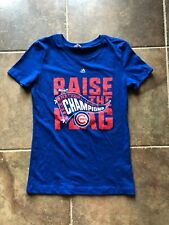 Women's Next Level Apparel Majestic Cubs Raise the Flag Tee T-Shirt Med NWOT