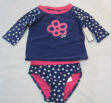 Baby Gap Girls Blue Polka Dot Rashguard Bathing Swimsuit 2 3 4 5