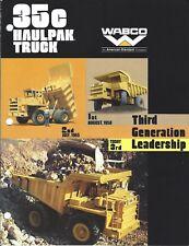 Equipment Brochure - Wabco - 35C - Haulpak Dump Mining Haul Truck c1977 (E4809)