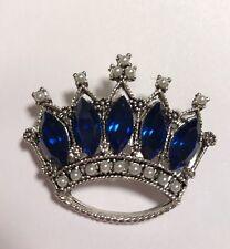 VTG Crystal Rhinestone Signed Weiss Crown Pin Brooch