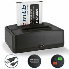 Dual Ladegerät (USB) + Akku NP-BG1/ NP-FG1 für Sony Cyber-shot DSC-HX10, HX10V