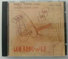 Leo Brouwer-Miguel Trapaga & Moscow String Quartet (1999 OOP Spanish Import CD)