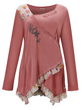 JOE BROWNS LADIES PRETTY WRAP FRONT TOP PINK NEW (ref 542)