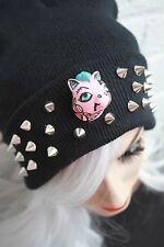 Dead pony noir bonnet street wear pastel goth cyber kawaii indie beanie