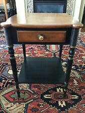 Antique Hitchcock Side Table with Drawer