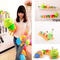 Colorful Inchworm Soft Caterpillar Lovely Developmental Child Baby Toy Dolls #M