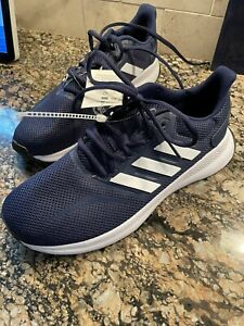 NWT Adidas Navy Blue White Running Active Sneaker Shoe Youth 6