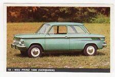 FIGURINE LA MIA AUTOMOBILE OGGI NUMERO 18 NSU PRINZ 1000 (GERMANIA)