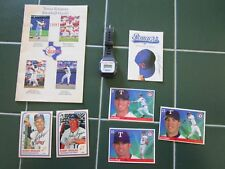 LOT OF 8 TEXAS RANGERS BASEBALL ITEMS, Watch,Guide,3 SIGNED ITEMS