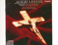 CD THE TALLIS SCHOLARS	allegri miserere	EX (B0871)