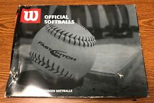 "Wilson A9060 Asa Low Optic Yellow Fastpitch 12"" Lea Cork Softballs 12 Pack New"