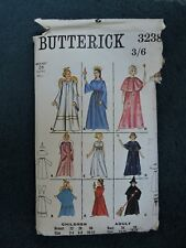 VINTAGE FANCY DRESS SEWING PATTERN. BUTTERICK 3238. AGE 6-8/26CM. WITCH, ANGEL