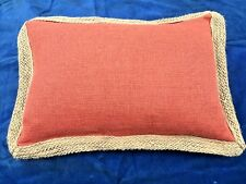 PIER ONE 1 Shabby Chic Linen & Tweed Rope Border Living Room Bed Chair Pillow