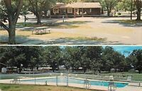 Perry Georgia~Crossroads Campgrounds~Picnic Table~Office~Swimming Pool~1960s