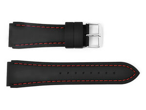 NOTCHED CORNERS RUBBER SILICONE WATCH STRAP WATERPROOF OLYMPIC 18, 20, 22, 24MM