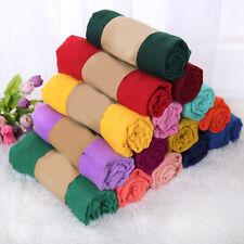 Women Scarf Cotton Linen Muslim Autumn Winter Neckerchief Hijab Shawl Scarves