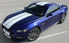 Genuine 3M 1080 S10 Satin White Twin Stripes kit for Ford Mustang 2015+