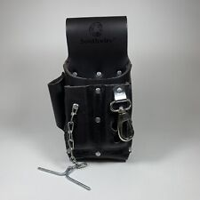New ListingTools & Equipment Pouch4 Leather Tool Pouch 5 Pocket w Electrical Tape Chain Fad