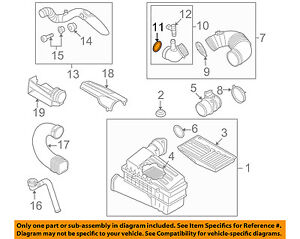 AUDI OEM 10-13 A3 Air Cleaner Intake-Adapter Seal 3C0129646