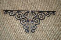 A pair of large Gothic scroll brackets shelf bracket shelving cast iron WH49AL29