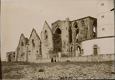 France, Brest, les Ruines de l'Abbaye Saint-Mathieu  Vintage citrate print,