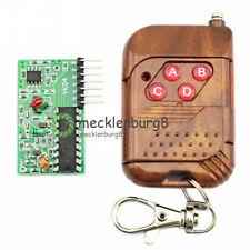 IC2262/2272 4 Channel 433MHZ Wireless Remote Control Kits 4 key Wireless Remote