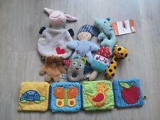 Spielzeug Baby - Paket Set - ab 3 Monate  Rassel Knistertuch Greifling Stoffbuch