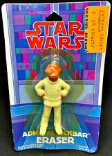 Admiral Ackbar Return of the Jedi Star Wars 1983 Sealed  Eraser