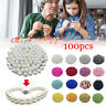 100pcs/lot 4/6/8/10MM With Hole Round Pearl Beads Acrylic Jewelry Making DIY
