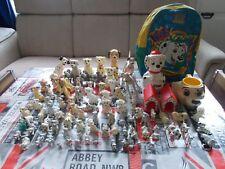 Lot de 89 pièces chien dalmatien dalmatian 101 102 collection figurine disney