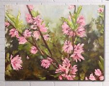 Spring Blossoms, textured oil painting, Melbourne artist, 40x30 cm, flowers
