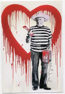 MR BRAINWASH PICASSO PROMOTIONAL POST CARD PRINT SHOW CARD MBW street art urban