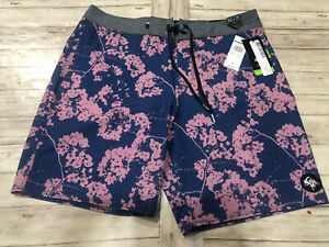 NWT Men's Quiksilver High Line Floral Boardshorts Size:34 Pockets N12
