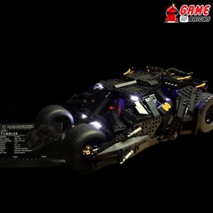 Game of Bricks LED Light Kit ONLY for Batman Tumbler 76023 (White Lights)
