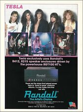 Tesla Frank Hannon 1990 Randall RGT100 HT guitar amps ad 8 x 11 advertisement