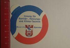 Aufkleber/Sticker: Innung für Sanitär Technik Bezirk Spandau (171116184)