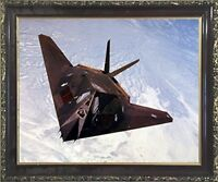 USAF F-117A Stealth Fighter Jet Aviation Aircraft Wall Art Decor Framed Picture