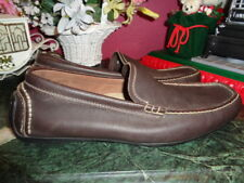 ROCKPORT MENS BROWN LEATHER LOAFERS WITH BEIGE STITCHING SIZE 13M PRISTINE